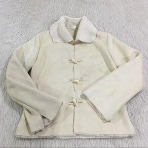 White House Black Market Jackets & Coats - WHBM cream faux fur jacket